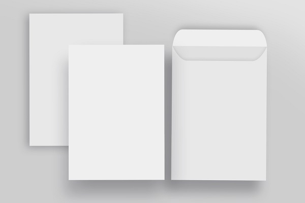 白い封筒の写真