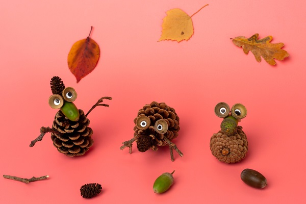 秋を楽しむ!自然物を使った製作15選。どんぐりやまつぼっくりで季節を味わおう