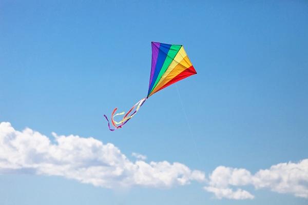 カラフルな凧