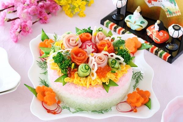 ひな祭りのちらし寿司の画像