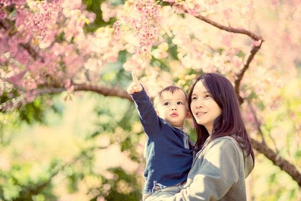 桜 子ども