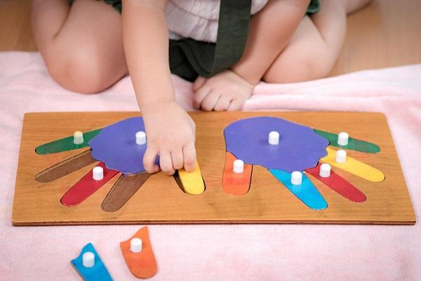 指先を使った遊びの写真