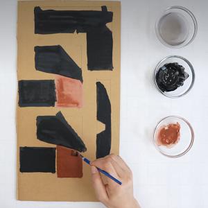 絵の具を塗る工程
