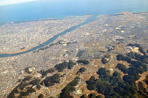 上空から眺める地方都市