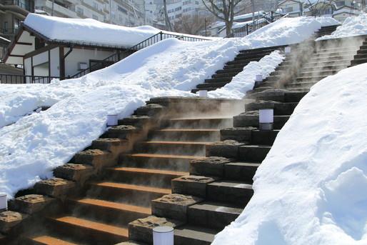 冬の伊香保温泉