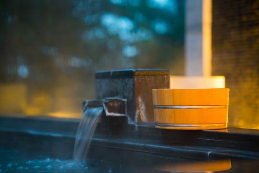 豊かな温泉