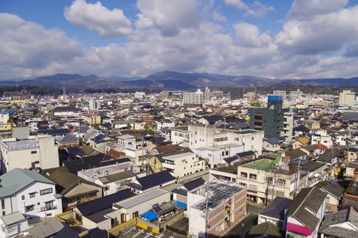 日田市の街並み