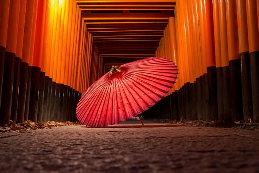 鳥居と番傘