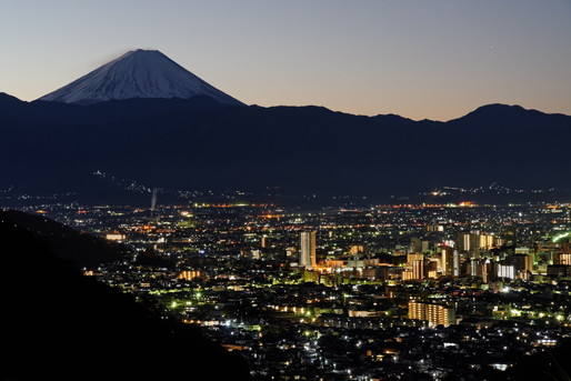 富士山と甲府