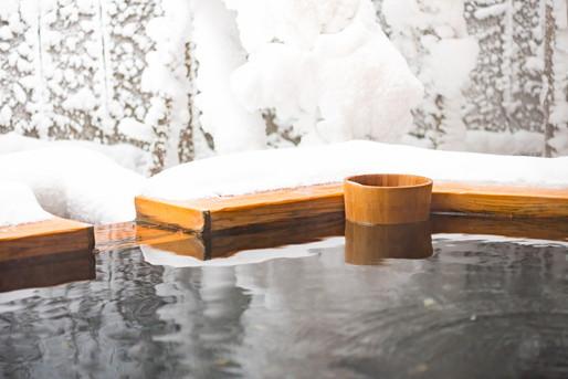 雪景色が望める露天風呂