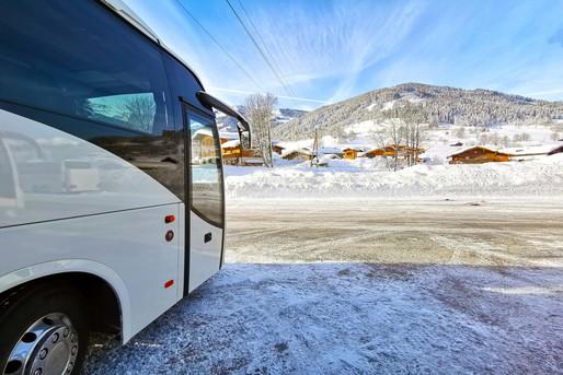 観光地に向かうバス