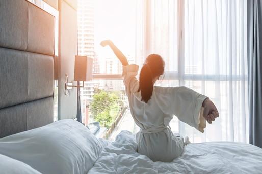 さわやかなホテルの朝