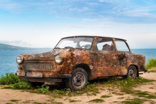 塩害にあった車