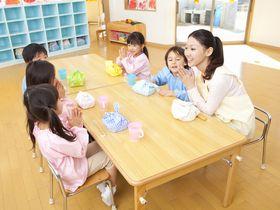 自然に囲まれた保育園。幼稚園への一貫したサポートを行っています