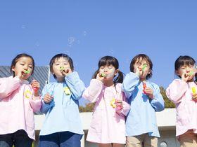 どんぐりのオブジェが園児を出迎える、厚木市にある私立保育園です。