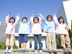 堺市北区にある3階建ての園舎で、屋上園庭のある認定こども園です。