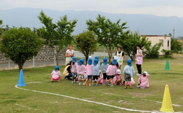 東江こども園子どもたち一人ひとりに「生きる力」を身に付けさせる保育を行っています。