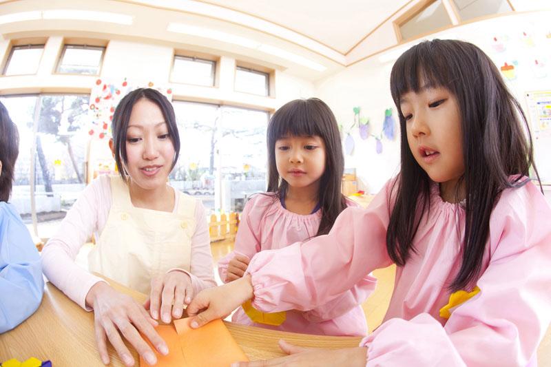 子どもの成長状態にあわせて様々なことにチャレンジする保育園です。