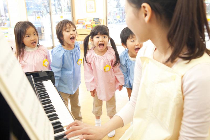 表現力を身につけるため、音楽の時間に力を入れている幼稚園です。