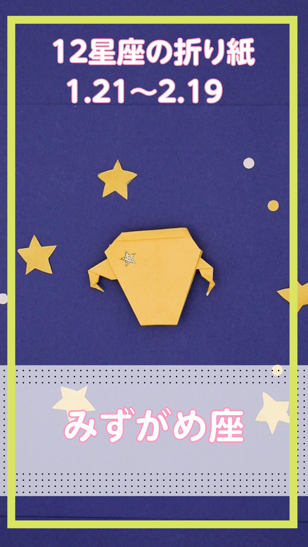 【動画】みずがめ座 12星座の折り紙