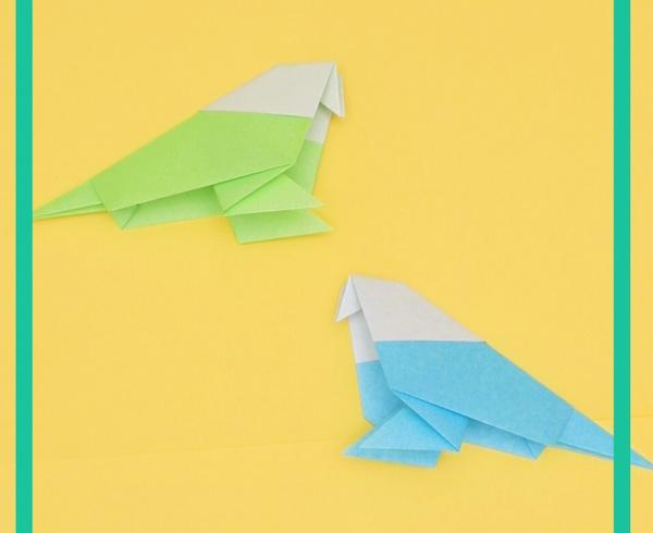 【動画】本物そっくりな折り紙インコ