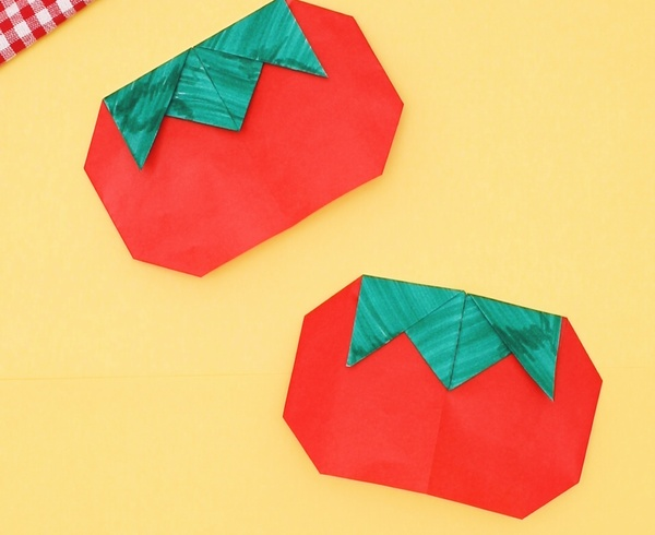 【動画】リコピンたっぷり折り紙トマト