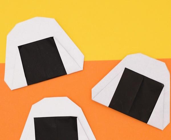 【動画】おいしそうな折り紙のおにぎり