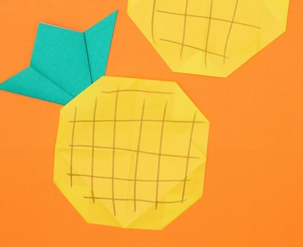 【動画】南国フルーツの折り紙パイナップル