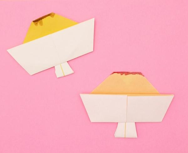 【動画】おやつにどうぞ折り紙プリン