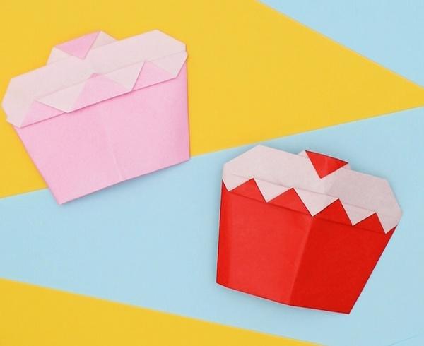 【動画】折り紙のショートケーキでアフタヌーンティー