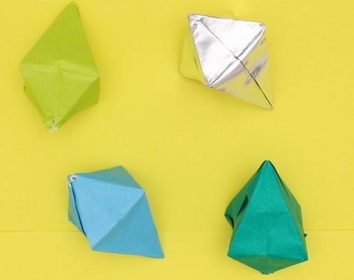 【動画】キラキラきれいな折り紙の宝石