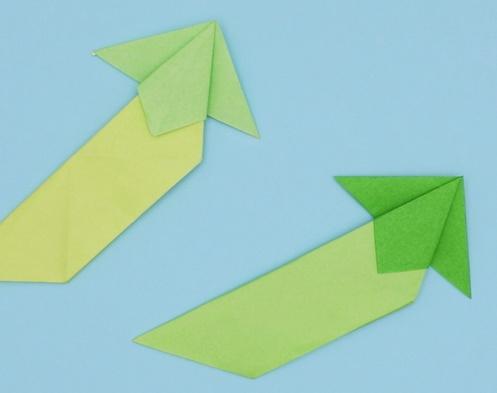 【動画】エンドウ豆の子ども、さやえんどうを折り紙で