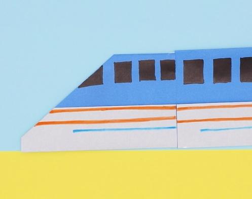 【動画】びゅんびゅん走る、折り紙の新幹線