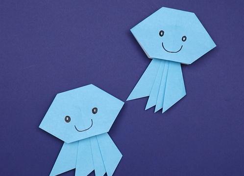 【動画】未満児さんにもぴったりの折り紙クラゲ