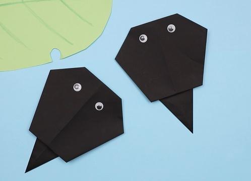 【動画】簡単に作れるおたまじゃくしの折り紙
