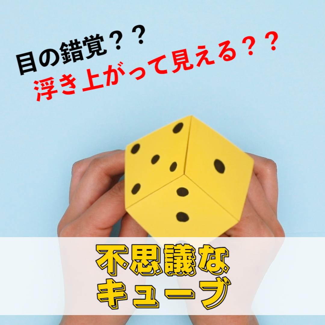 【動画】浮き上がって見える?不思議なキューブ