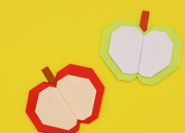 【動画】半分こしたりんごを折り紙で作ろう