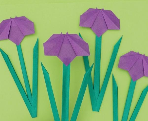 【動画】5月の花と花言葉は?折り紙あやめ