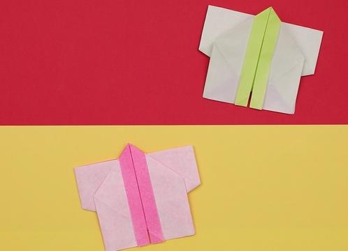 【動画】折り紙でお祭りのはっぴを作ろう