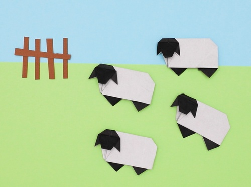 【動画】折り紙で羊を作ろう