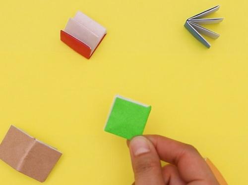 【動画】折り紙で作る小さな本