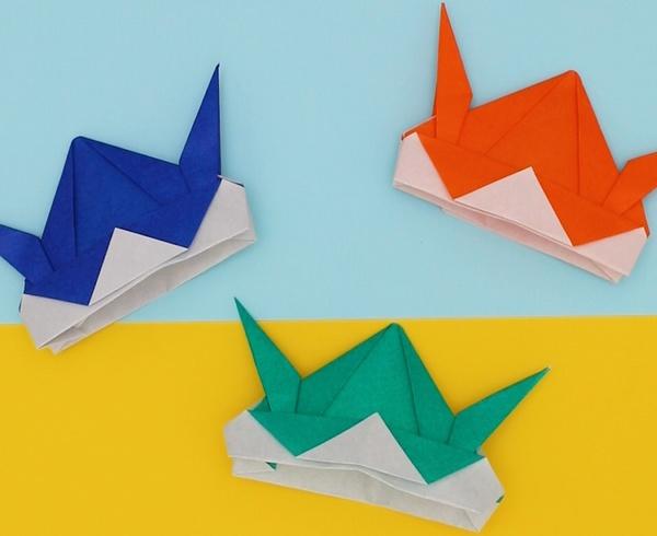 【動画】こどもの日に折り紙カブトをかぶろう