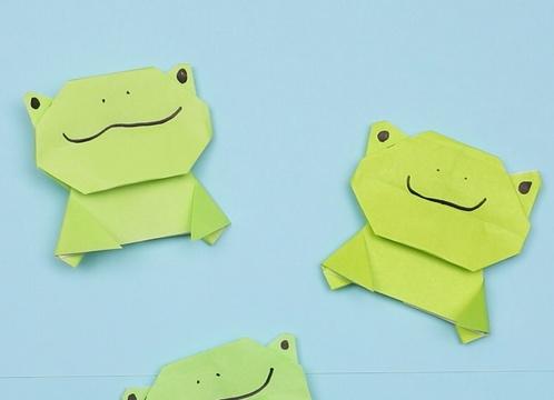 【動画】かわいいカエルの折り紙