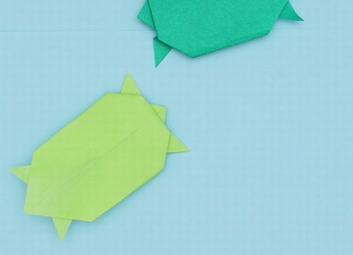 【動画】折り紙のカメ