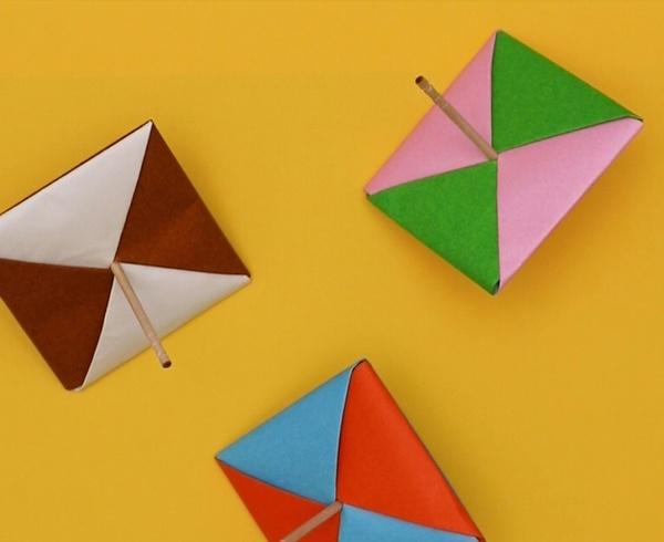 【動画】よく回る!折り紙のコマ