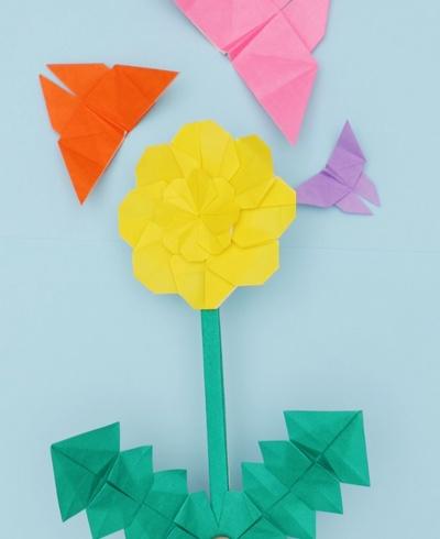 【動画】4月の花と花言葉は?折り紙たんぽぽ