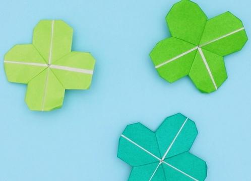 【動画】しあわせの四つ葉のクローバーを折り紙で