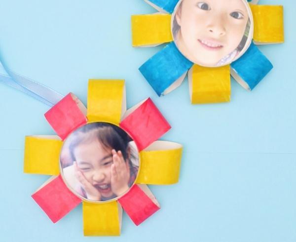 【動画】紙コップで写真つきのメダルを手作り