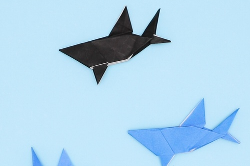 【動画】実はおだやかな性格の折り紙サメ