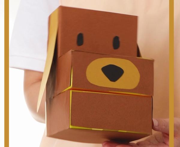 【動画】ティッシュ箱でワンちゃん